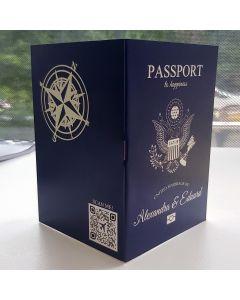 Invitatii nunta luxury tip pasaport (FARA FILA INTERIOR)