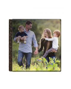 Album foto holiday, patrat, 25x25, piele ecologcia, face-off carton negru, 10 file