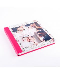 Album foto plexy, patrat, 30x30, piele ecologcia, face-off carton crem, 10 file