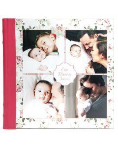 Album foto plexy, patrat, 20x20, piele ecologcia, face-off carton crem, 10 file