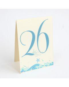 Numere de masa pearl (carton special argintiu/auriu) - NM004