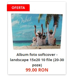 Album foto softcover - landscape 15x20 10 file (20-30 poze)